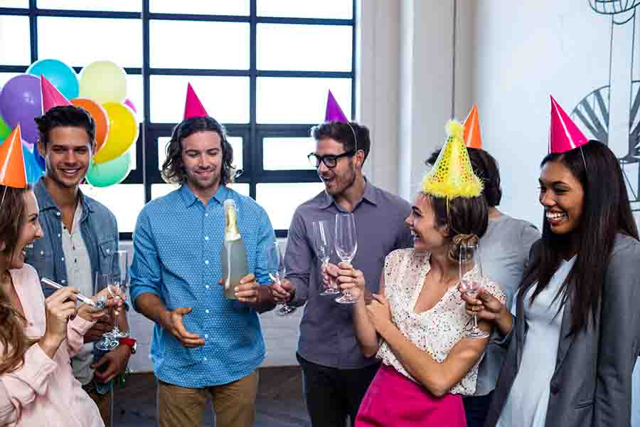 office party ideas flashback