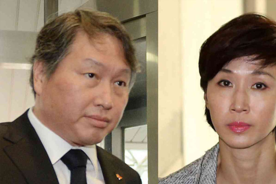 Chey Tae-won and Roh Soh-yeong