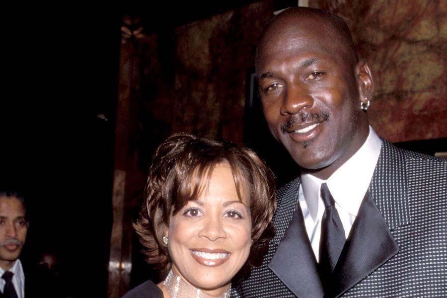 Michael Jordan and Juanita Vanoy