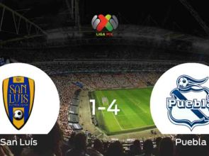 Puebla remains with the three points against San Luis (1-4)